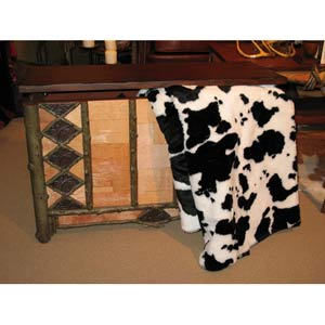 Black and White Cow Throw