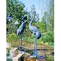 Colossal Cranes Bronze Garden Sculptures - Set of Two