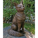 Fanciful Fox Solid Bronze Garden Sculpture