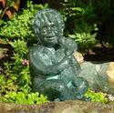 A Boy's Best Friend Solid Bronze Garden Statue