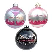 Sex and the City Glass Ball Ornaments