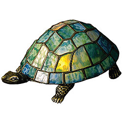 Turtle Tiffany-style Accent Lamp