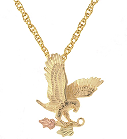 Black Hills Gold Eagle Pendant