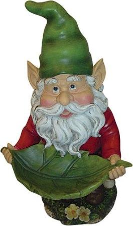 Bird Bath Leaf Gnome