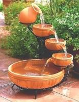 Terracotta Cascade Solar Fountain