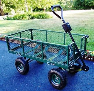 Oakland Living 90014-GN Utility Metal Garden Cart - 500 lb Capacity - Green