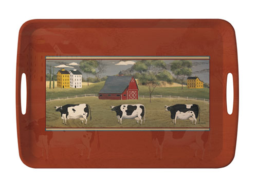 Sisson Imports 7547 - Sisson Editions Colonial Cow Tray - 17.5 x 11.75 Inches