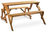 Wooden Converting Picnic Table and Bench - 24WD3001