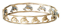 Pave Dolphin Bangle