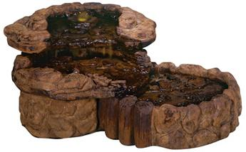 Rustic Lodge Pebble Spill Fountain