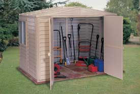 Outdoor Storage Garage Sheds Riding Lawnmower Storage